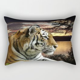 Sunset Tiger Rectangular Pillow