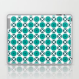 Flowers and spikes – turquoise Laptop & iPad Skin