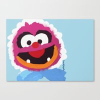 muppets Canvas Prints featuring Animal Muppets Babies by Roe Mesquita