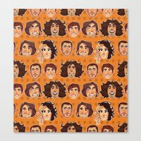game grumps Canvas Prints featuring Game Grumps Pattern New by SIINS