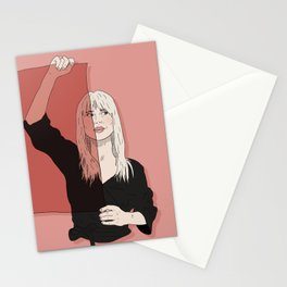 Rose-Colored Girl Stationery Cards