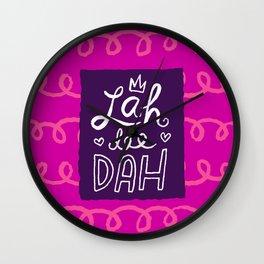 Lah Dee Dah fuchsia Wall Clock