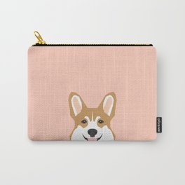 Shelby - Welsh Corgi gifts with corgi illustration for dog people and corgi owner gifts dog gifts Carry-All Pouch