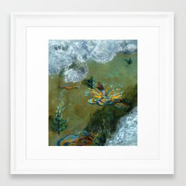 Joy of Rain ii Framed Art Print