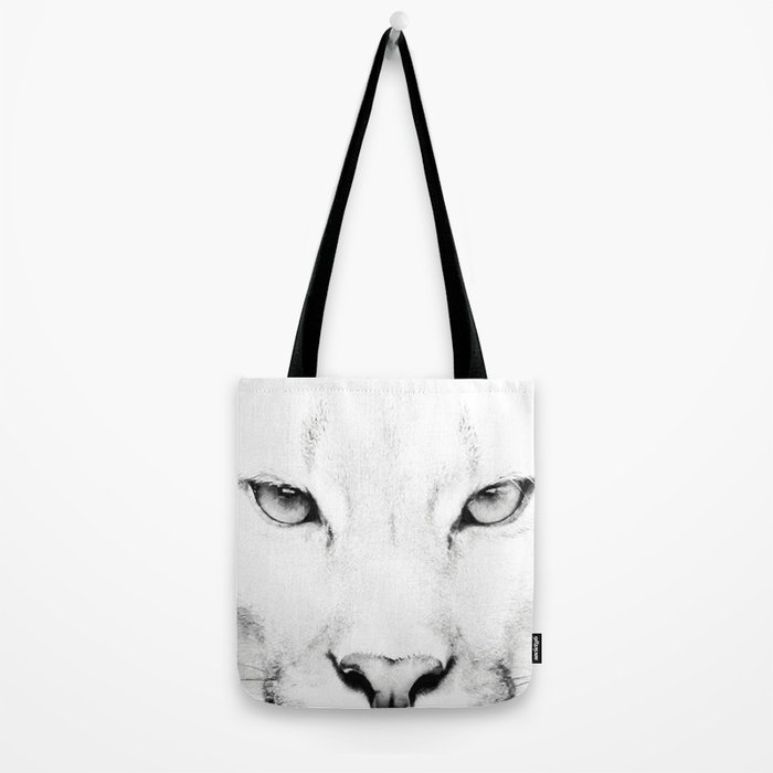 3f96402172de White Puma Print Tote Bag by pdfdecor