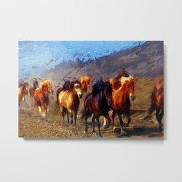 Wild Horses II Metal Print