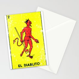 El Diablito Mexican Loteria Card Stationery Cards