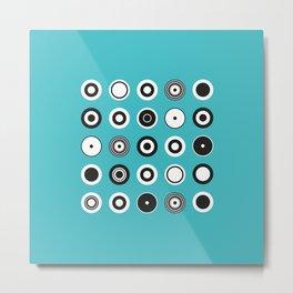Circles Turquoise Metal Print