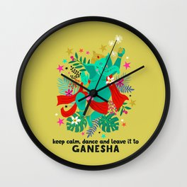 Ganeshas Dance Wall Clock