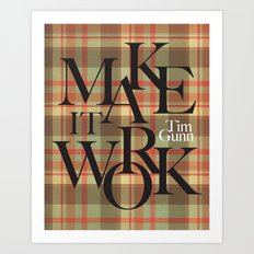 Make It Work Plaid Art Print
