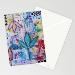 Flowers in freedom Stationery Cards