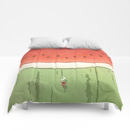 Fleshy Fruit (Watermelon) Comforters