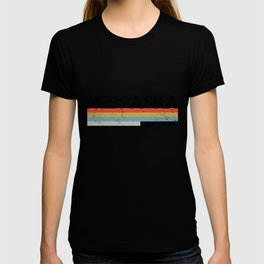 Retro Vintage Stripes Nebraska Gift & Souvenir Graphic T-shirt