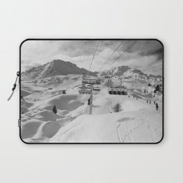 8 Seat Chair Lift B&W Laptop Sleeve