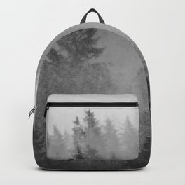 Black and White Forest Abstract Backpack