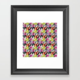 Kim Chi Pattern Framed Art Print