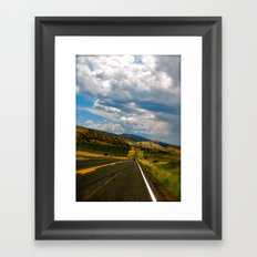Tilted Road Trip Framed Art Print