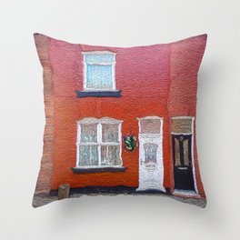 George's Boyhood Home Throw Pillow