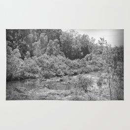 Magnificent River in Black and White Rug