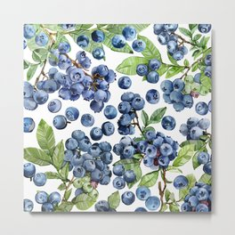 Blueberry Metal Print