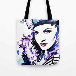 Madame / Watercolor portrait fashion illustration beautiful woman vogue cover vintage pop art Tote Bag