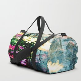 Flower and glass Duffle Bag