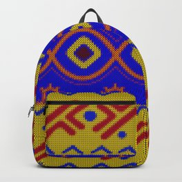 Ethnic African Knitted style design Backpack