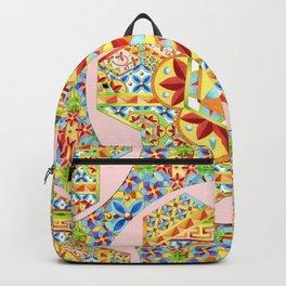 Gypsy Boho Chic Hexagons Backpack