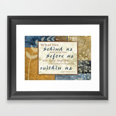 What Lies Within Us Framed Art Print