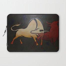 Two Bulls Fighting Laptop Sleeve