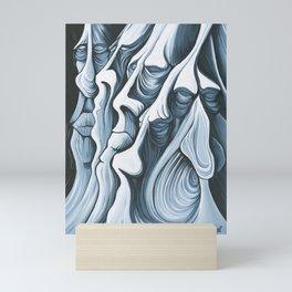 Mountain Faces Mini Art Print