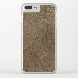 Rustic Tree Bark Pattern Clear iPhone Case
