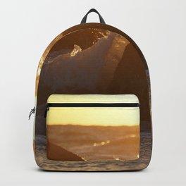 Golden Splash of Sunset Backpack