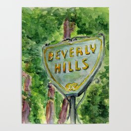 Beverly Hills Street Sign Poster