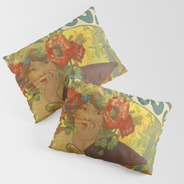 BEER Brewery Alphonse Mucha Pillow Sham