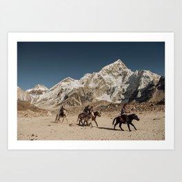 sherpa boys Art Print