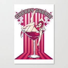 Cherry Cherie - Les filles à boire Canvas Print