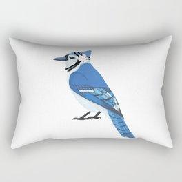 Wrestling Blue Jay Rectangular Pillow