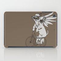 steam punk iPad Cases featuring Steam Punk Chihuahua by Rebecca Pocai