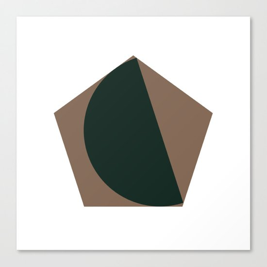 #302 Pretty fitting – Geometry Daily Canvas Print