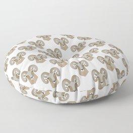 Modern Bighorn Sheep Floor Pillow