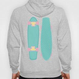Pastel Skateboards Pattern Hoody