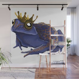 Psychedelic Blue Frog Wall Mural