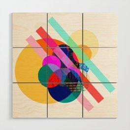 "COLLAGE: ""AGAIN 1"" Wood Wall Art"
