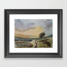 Path to tree Framed Art Print
