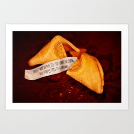 I Spent A Fortune On This Cookie. Art Print