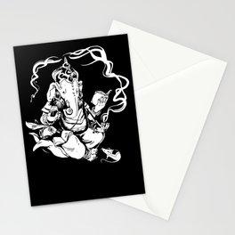 nerdy ganesha Stationery Cards