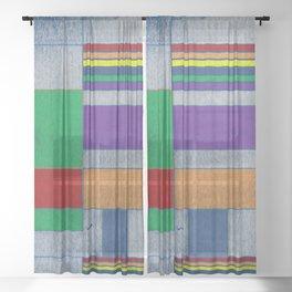Mid-Century Modern Art - Rainbow Pride 1.0 Sheer Curtain