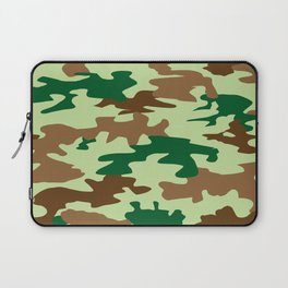 Camouflage Print Pattern - Greens & Browns Laptop Sleeve