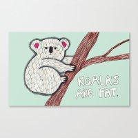 koala Canvas Prints featuring Koala by Olga M.